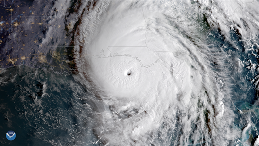 Small unmanned aircraft flies into rapidly intensifying Hurricane Michael