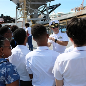 Barbadian students tour NOAA Ship Ronald H. Brown