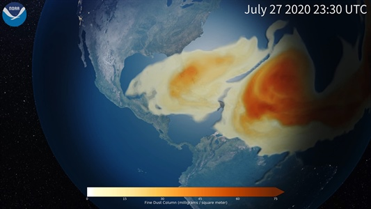 New NOAA research model improves dust, air quality forecasts