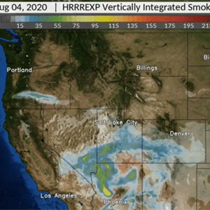 NOAA experimental model predicts smoke movement from California fire