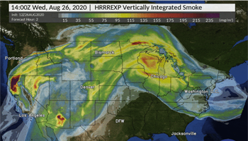 When smoke is in the air, all eyes turn to this NOAA weather model