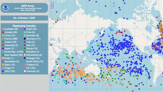 The Global Drifter Program launches a new interactive map tool