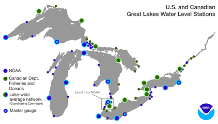 NOAA CO-OPS water level stations.