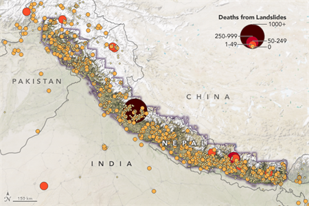 Mapping deaths from landslides