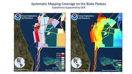 Mapping data of Blake Plateau off US southeast coast
