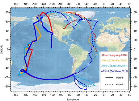 Four missions over the remote oceans