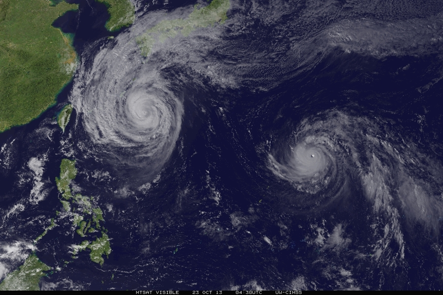 Tropical cyclone 'maximum intensity' is shifting toward the poles