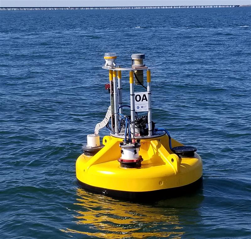 noaa and partners launch buoy to track changing coastal chemistry in