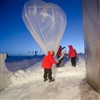 Balloon launch at South Pole