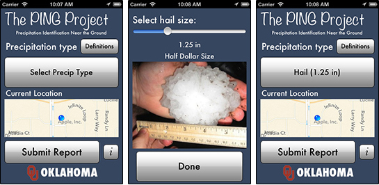 New smart phone app lets public report rain, hail, sleet and snow to NOAA