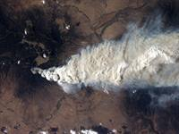 Smoke from a New Mexico wildfire contains soot.