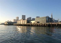 The Exploratorium at Pier 15, view from the water