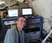 CIRES scientist Jeff Peischl aboard NOAA's P-3 research aircraft in 2010