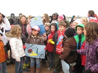 CTV was on hand to record the occasion when Mrs. Gervais' class re-launched Boat 7 in the Detroit River in November.