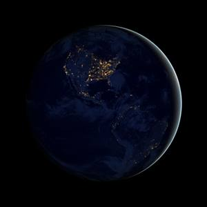A view of Earth at night