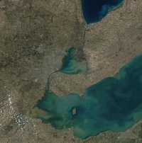Lake St. Clair satellite image (focused)