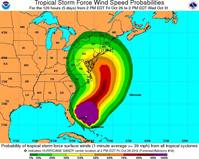 Predicting hurricane winds