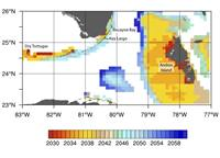 Coral bleaching projections