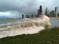 High waves near Chicago
