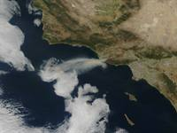 Satellite Image of California Fire