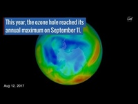 Video: Warm winter air makes for smaller ozone hole