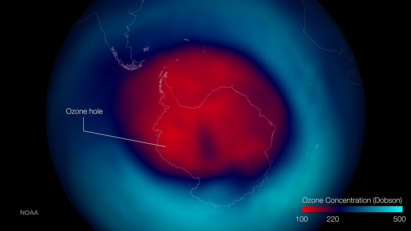 a study of the ozone A free press for a free people since 1997 (spacecom) — efforts to heal the hole in earth's ozone layer over antarctica appear to be paying off, according to a new, first-of-its-kind study that looked directly at ozone.