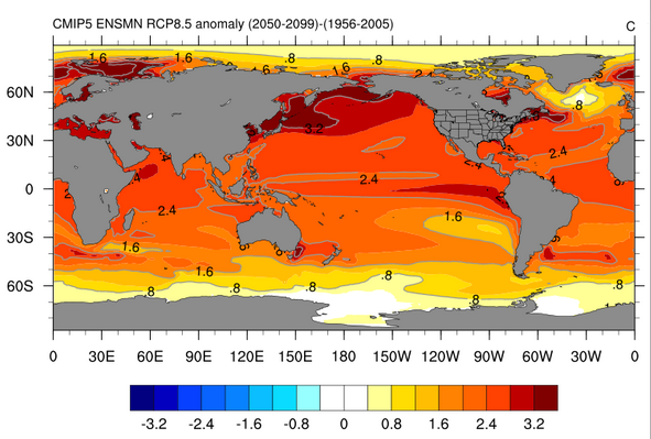 Mapping climate change in the oceans warming sea waters sciox Images