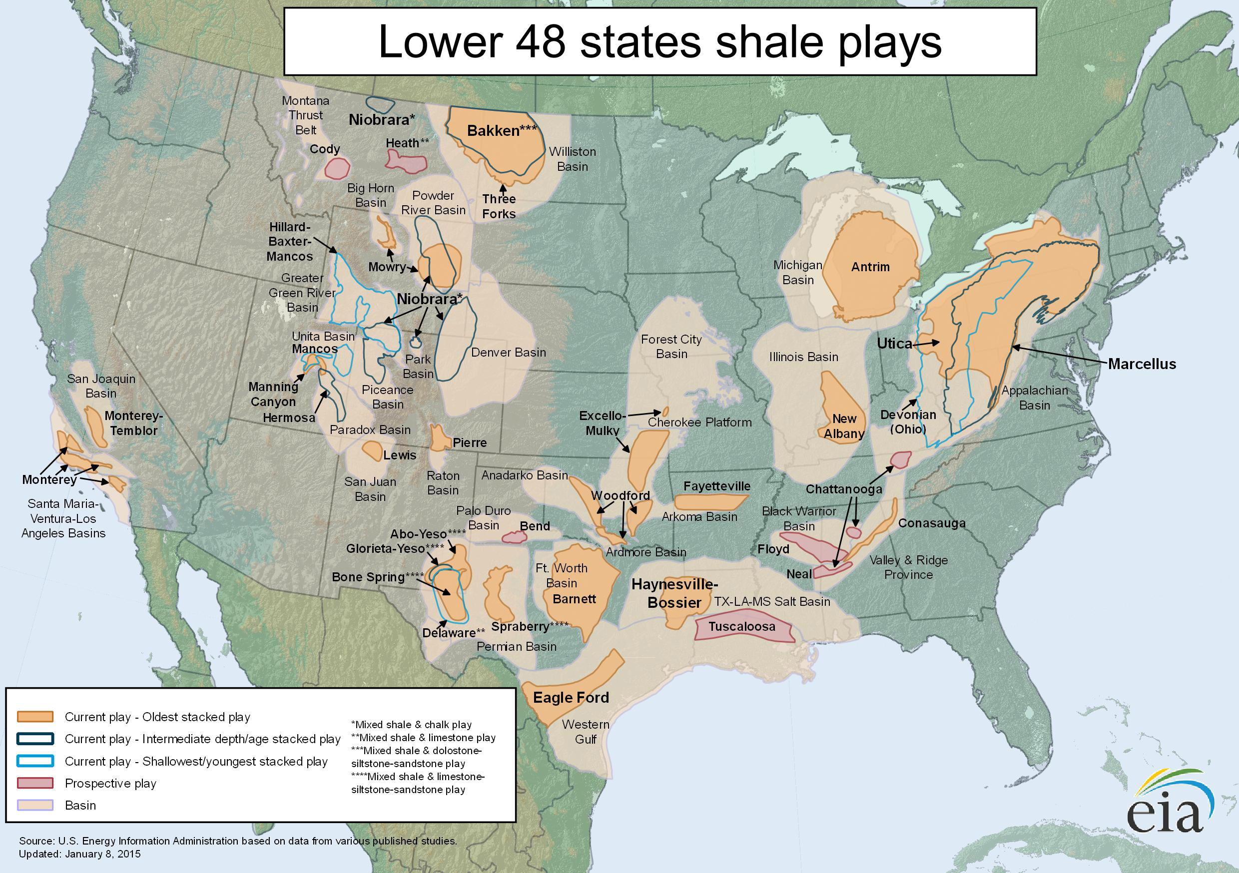 Methane Leaks From Three Large US Natural Gas Fields In Line - Us oil and gas reserves map