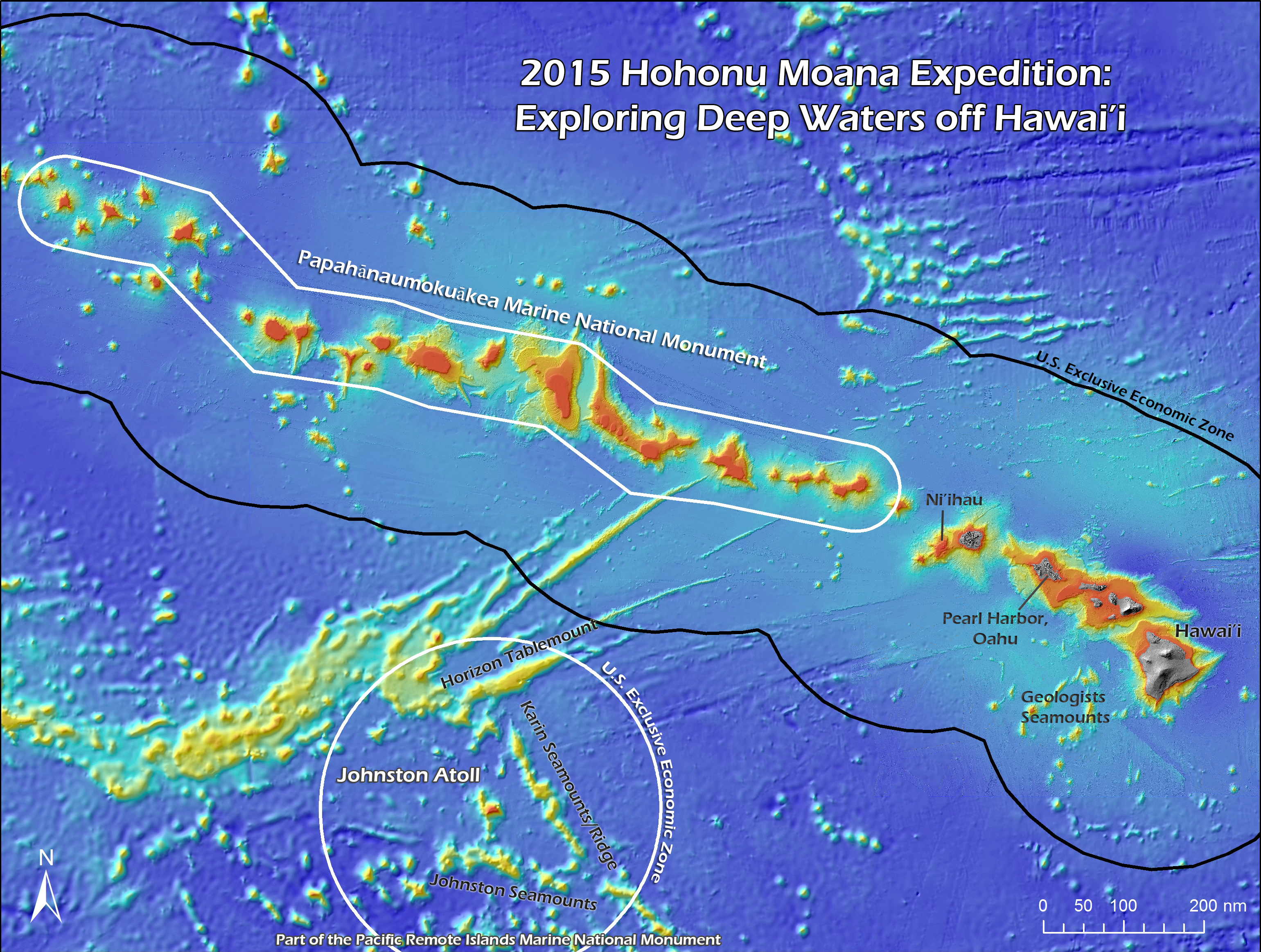 Public invited to join NOAA on deep sea expedition of ... Pacific Ocean Underwater Map
